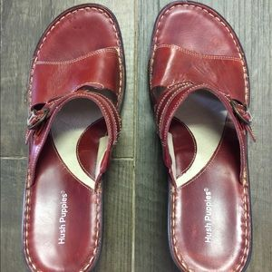Hush Puppies Ariel Red Sandals Size 9